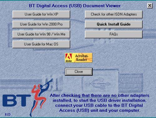 BT Digital Access USB R1D (2001) (PN: CD-9030-024-R1D